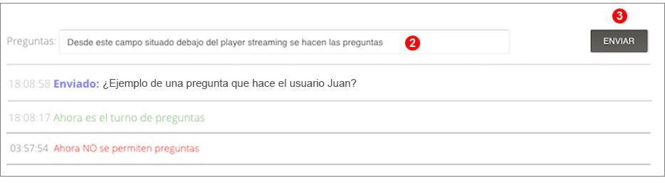 Streaming preguntas del público
