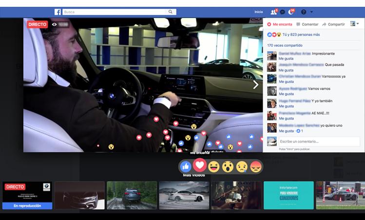 Facebook Live presentación nuevo BMW Serie 5