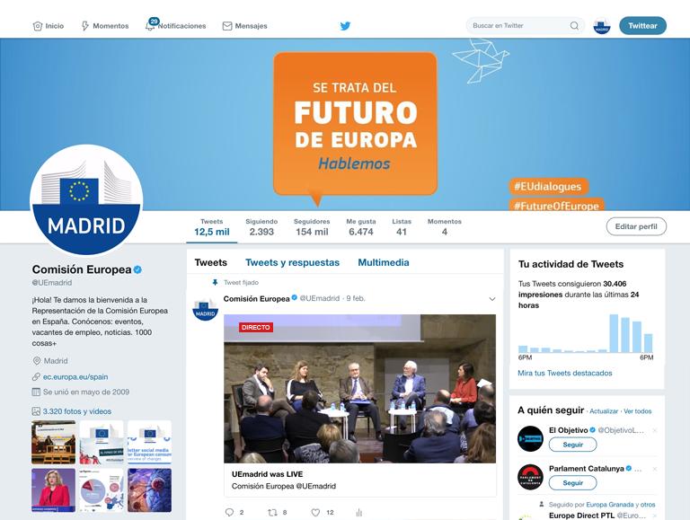 Facebook Live y Periscope Comisión Europea en España